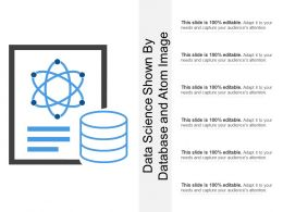 Data Science Shown By Database And Atom Image