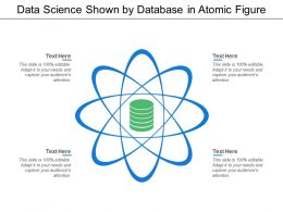 Data Science Shown By Database In Atomic Figure