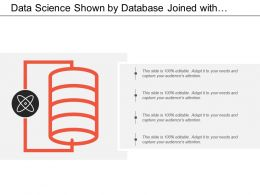 Data Science Shown By Database Joined With Atomic Figure