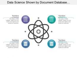Data Science Shown By Document Database And Atom Image