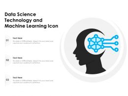 Data Science Technology And Machine Learning Icon