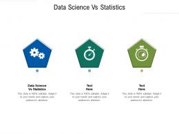 Data Science Vs Statistics Ppt Powerpoint Presentation Portfolio Background Images Cpb