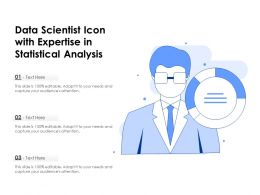 Data Scientist Icon With Expertise In Statistical Analysis