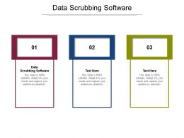Data Scrubbing Software Ppt Powerpoint Presentation Layouts Slides Cpb