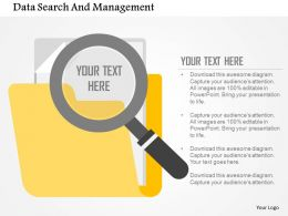Data Search And Management Flat Powerpoint Design