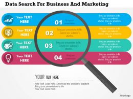 Data Search For Business And Marketing Flat Powerpoint Design