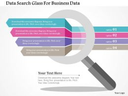Data Search Glass For Business Data Flat Powerpoint Design