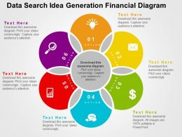 Data Search Idea Generation Financial Diagram Flat Powerpoint Design
