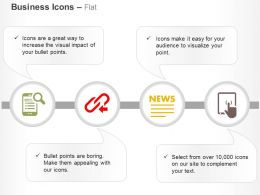 Data Search Link News Letter Data Analysis Ppt Icons Graphics