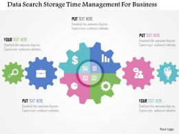 Data Search Storage Time Management For Business Flat Powerpoint Design