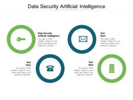 Data Security Artificial Intelligence Ppt Powerpoint Presentation Layouts Display Cpb