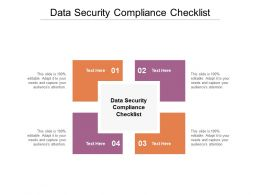 Data Security Compliance Checklist Ppt Powerpoint Presentation Pictures Backgrounds Cpb