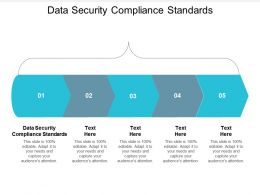 Data Security Compliance Standards Ppt Powerpoint Presentation Infographic Cpb