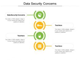 Data Security Concerns Ppt Powerpoint Presentation Outline Design Ideas Cpb