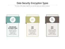 Data Security Encryption Types Ppt Powerpoint Presentation Layouts Graphics Download Cpb