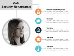 Data Security Management Ppt Powerpoint Presentation Infographics Icon Cpb