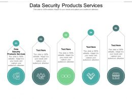 Data Security Products Services Ppt Powerpoint Presentation Infographic Template Cpb