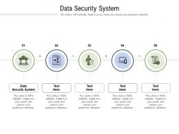 Data Security System Ppt Powerpoint Presentation Pictures Influencers Cpb
