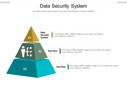 Data Security System Ppt Powerpoint Presentation Slides Ideas Cpb