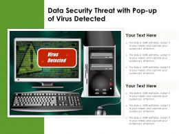 Data Security Threat With Pop Up Of Virus Detected