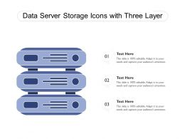 Data Server Storage Icons With Three Layer