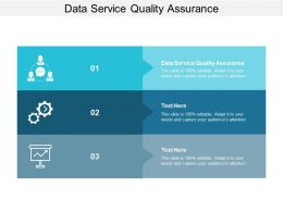 Data Service Quality Assurance Ppt Powerpoint Presentation Layouts Smartart Cpb