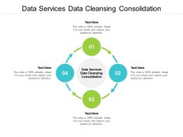 Data Services Data Cleansing Consolidation Ppt Powerpoint Presentation Icon Inspiration Cpb