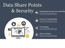 Data Share Points And Security Powerpoint Images