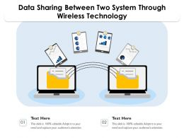 Data Sharing Between Two System Through Wireless Technology