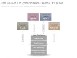 Data Sources For Synchronization Process Ppt Slides