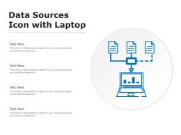 Data Sources Icon With Laptop