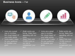 Data Storage Business Man Pencil Bar Graph Ppt Icons Graphics