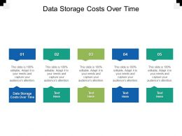 Data Storage Costs Over Time Ppt Powerpoint Presentation Summary Design Inspiration Cpb