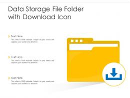 Data Storage File Folder With Download Icon