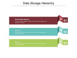 Data Storage Hierarchy Ppt Powerpoint Presentation Model Smartart Cpb