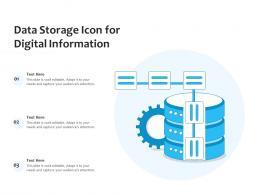 Data Storage Icon For Digital Information