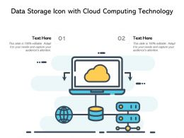 Data Storage Icon With Cloud Computing Technology