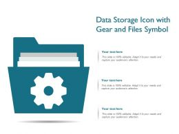 Data Storage Icon With Gear And Files Symbol