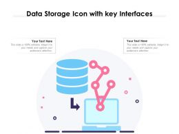 Data Storage Icon With Key Interfaces