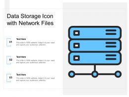 Data Storage Icon With Network Files