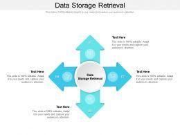 Data Storage Retrieval Ppt Powerpoint Presentation File Layouts Cpb
