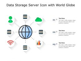 Data Storage Server Icon With World Globe
