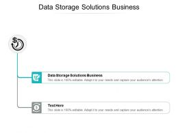 Data Storage Solutions Business Ppt Powerpoint Presentation Slides Portrait Cpb