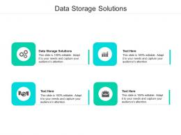 Data Storage Solutions Ppt Powerpoint Presentation Show Example Cpb