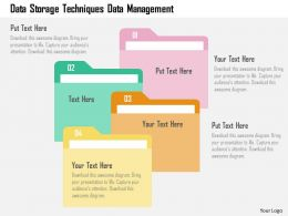 data_storage_techniques_data_management_flat_powerpoint_design_Slide01