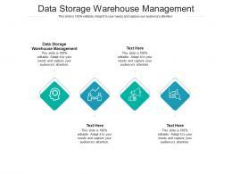 Data Storage Warehouse Management Ppt Powerpoint Presentation Slides Good Cpb