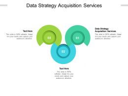 Data Strategy Acquisition Services Ppt Powerpoint Presentation Icon Clipart Images Cpb