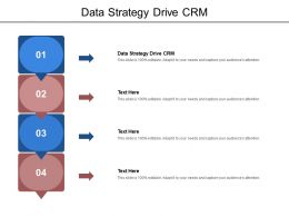 Data Strategy Drive CRM Ppt Powerpoint Presentation Professional Layout Cpb