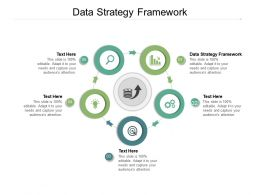 Data Strategy Framework Ppt Powerpoint Presentation Model Cpb