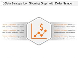 Data Strategy Icon Showing Graph With Dollar Symbol